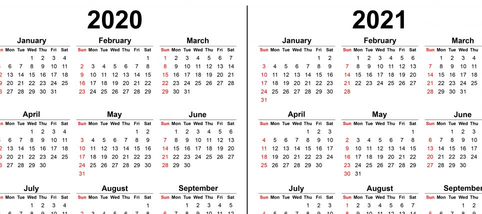 Kalender 2020-2021 opdateret